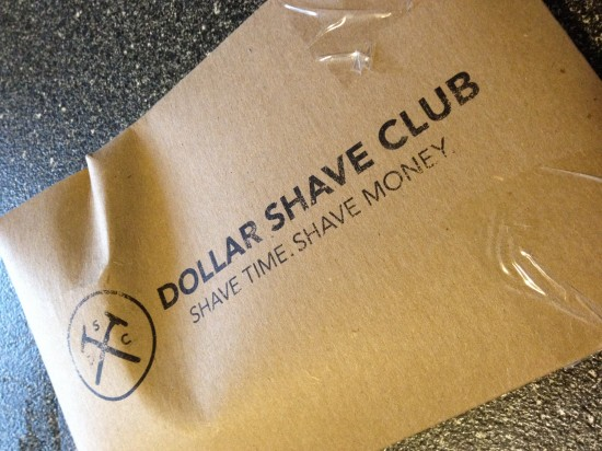 Dollar Shave Club's mailing package