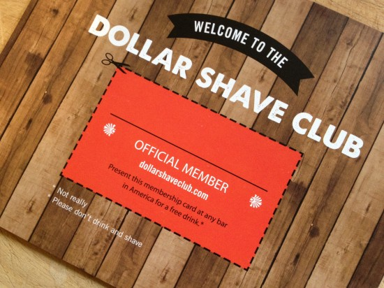 Postcard: Welcome to the Dollar Shave Club