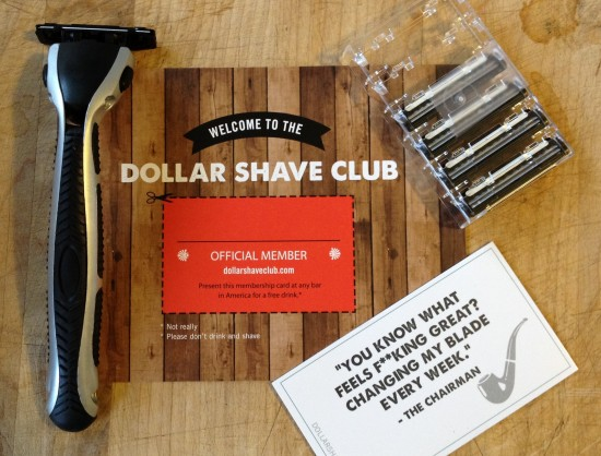 Everything I received from Dollar Shave Club in my first mailing