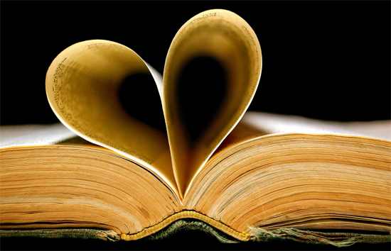 Book and heart. Photo © Carlos Porto