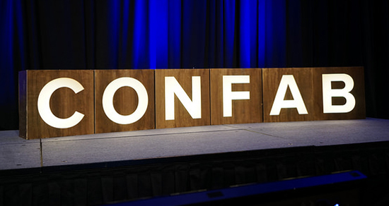 Welcome to Confab: the content strategy conference. Photo © Sean Tubridy/Brain Traffic