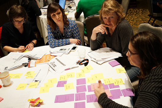 Digging deep into content modeling during a full-day Confab workshop. Photo © Sean Tubridy/Brain Traffic
