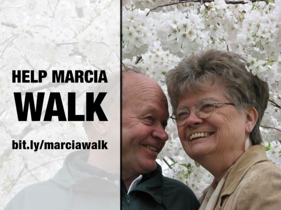 Help Marcia walk again: bit.ly/marciawalk