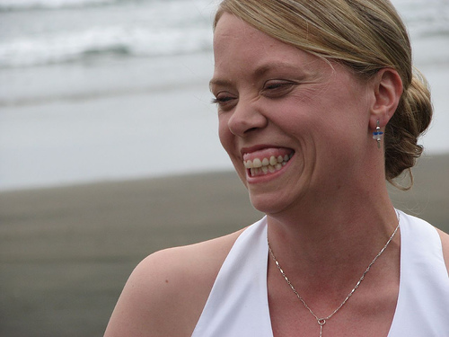 Marja at our Wedding in Piha, New Zealand.
