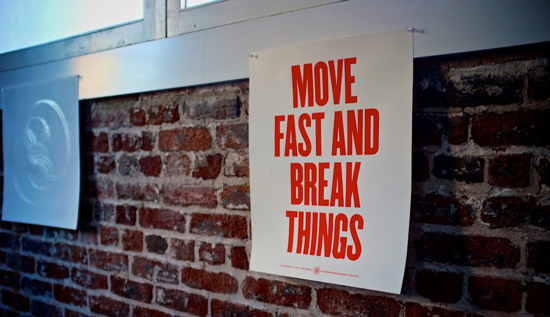 Move fast and break things. Photo © Ross Belmont