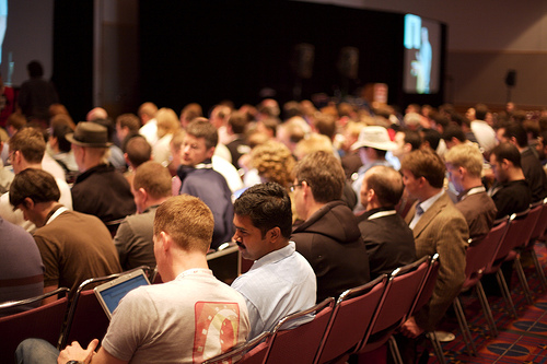 Conference crowd by supervillain, on Flickr