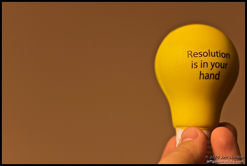 Resolution is in your hand by jeff_golden, on Flickr