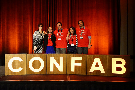 The people behind the show: Team Confab. Photo © Sean Tubridy/Brain Traffic